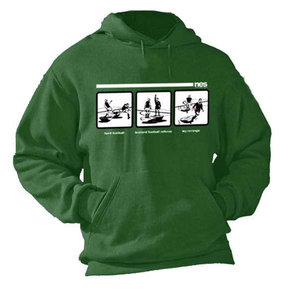 felpa uomo subbuteo con cappuccio verde